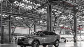 Производство легковых автомобилей в России в январе – апреле 2018 года выросло