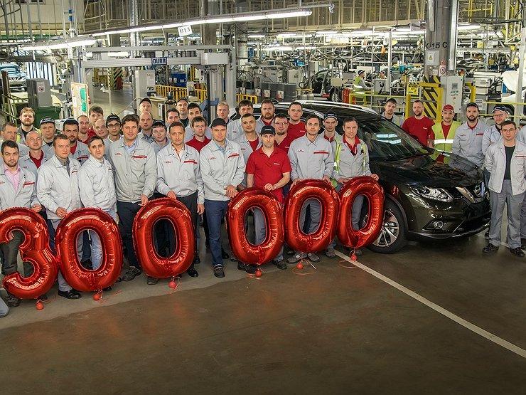 Компания Nissan выпустила на заводе в Санкт-Петербурге 300 000-й автомобиль